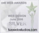 DirWebAward Silver Award Winner presented to Tuxxedo Studios